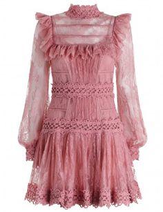 Mischief Peony Lace Dress