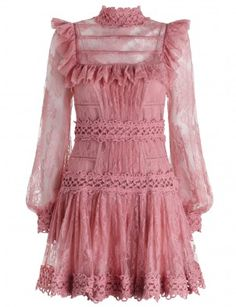 Mischief Peony Lace Dress