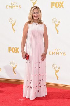 Emmy Awards 2015: Celebrity Fashion—Live from the Red Carpet - Vogue.  Edie Falco, Nurse Jackie.