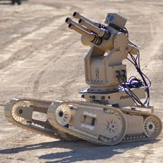 From iRobot, the company that brought you Roomba, and a munitions company called Metal Storm, comes FireStorm, one of a series of next generation ground-based combat robots that will make Johnny 5 a thing of reality.