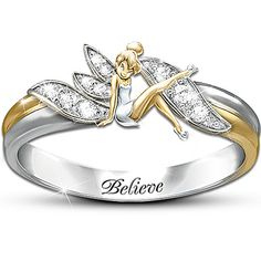 Disney Tinkerbell Jewelry is not just for little girls. Check out this entire collection of Disney Tinkerbell Jewelry created just for us big girls. Ceramic Jewelry, Sea Glass Jewelry, Jewelry Box, Jewelry Rings, Jewelry Accessories, Gold Jewellery, Baby Jewelry, Geek Jewelry, Jewellery Shops