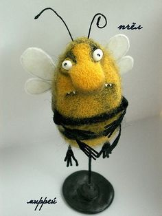 Купить пчЁЛЛ - насекомы, пчела, шмель, войлок, проволока, мулине, пластика, клей, краски