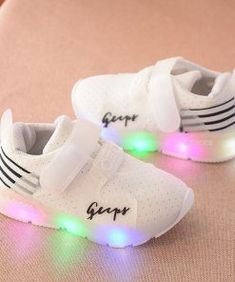 LED Lighting Baby Shoes for Boys and Girls Features *LED Light Shoes *Hook & Design Loop *Material: Mesh, Rubber *Package: 1 pair baby shoes, Anti-Slip Design Size Chart Not satisfied with your item? Cute Baby Girl, Baby Love, Cute Babies, Boy Or Girl, Baby Boy Shoes, Girls Shoes, Baby Fashionista, Lit Shoes, Baby Swag