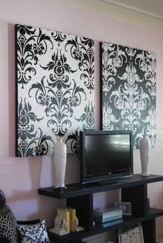 Black And White Damask Decorating Ideas Party Decorations By Charlotte Amos Pinterest Damasks Decoration