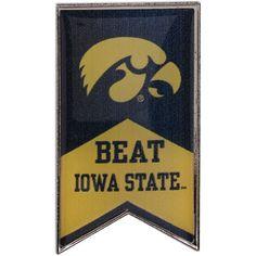 Iowa Hawkeyes Beat Iowa State Rivalry Banner Pin - $6.99