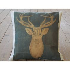 Deer Quote Burlap and Canvas Pillow Shabby Chic Lodge Rustic Cabin... (€27) ❤ liked on Polyvore featuring home, home decor, throw pillows, decorative pillows, grey, home & living, home décor, gray accent pillows, deer home decor and polka dot throw pillow