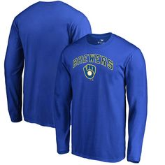 Milwaukee Brewers Fanatics Branded Cooperstown Collection Wahconah Long  Sleeve T-Shirt - Royal 097b6d506