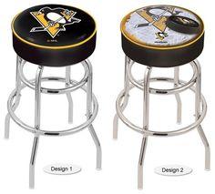 Pittsburgh Penguins NHL Retro Chrome Bar Stool