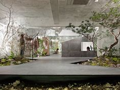 Yuko Nagayama & Associates in collaboration with landscape designer Toshiya Ogino envisioned this outstanding open space showroom in Kobe, Japan, for Landscape Architecture, Interior Architecture, Landscape Design, Garden Design, Japan Architecture, Deco Design, Design Ideas, Graphic Design, Gardens