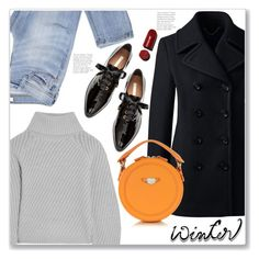 Designer Clothes, Shoes & Bags for Women Winter Sweaters, Sweater Weather, Blue Denim, Blue Jeans, Blazer With Jeans, Carven, Polyvore Fashion, Your Style, Personal Style
