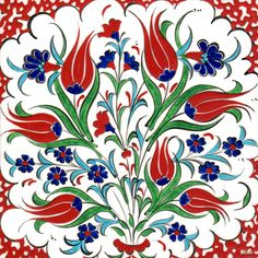Ottoman Palace Tiles Iznik Wall Panels Turkish Tile Art Tiles – Nurgün Alkaya – Join the world of pin Ceramic Tile Art, Ceramic Painting, Art Tiles, Ceramic Mugs, Mosaic Tiles, Turkish Tiles, Turkish Art, Handmade Tiles, Handmade Pottery
