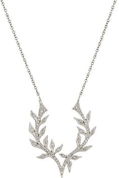 colar prata moderno folhas top100 semijoias