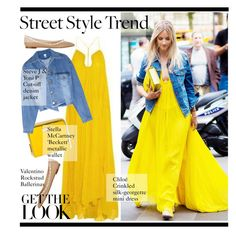 yellow maxy dress by paculi on Polyvore featuring Steve J & Yoni P, Valentino and STELLA McCARTNEY