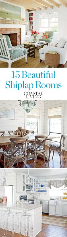 The clean, timeless look of shiplap paneling is a foolproof way to infuse a room with cozy cottage character. Why is this design style taking America by storm? We think we've found the answer in these charming coastal rooms.