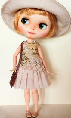 Shabby Chic dress for Blythe doll