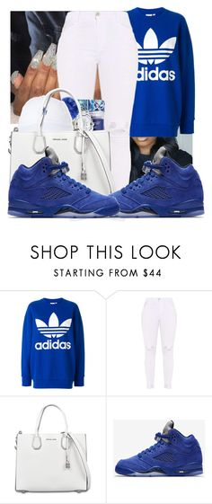 """""""Untitled #418"""" by lowkeysavage11 ❤ liked on Polyvore featuring adidas, MICHAEL Michael Kors and NIKE"""