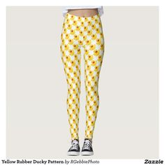Yellow Rubber Ducky Pattern Leggings - $75.95 - Yellow Rubber Ducky Pattern Leggings - by #RGebbiePhoto @ #zazzle - #Rubber #Duck #Yellow - Whether you had one as a child, or have one as an adult, these plastic yellow rubber duckies are sure to bring a smile to any face. Bath time is always fun time with these squeaky toys!