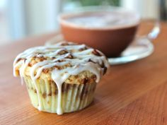 Coffee Cake Cupcakes. These are very good. The greek yogurt (or sour cream) make them very moist!