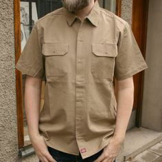 Dickies - Eu Solid Shirt Khaki - Sivletto & Unionville – clothes and stuff for a lifestyle deluxe - rockabilly, hot rod, swing, retro, tiki