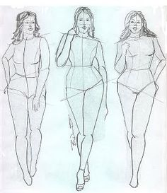 Plus size fashion croquis templates share
