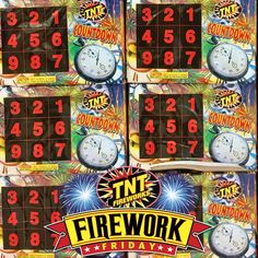 The Countdown has ended.  Firework Friday has arrived!  #FireworkFriday #TNTFireworks #Countdown