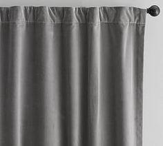 Velvet Twill Curtain, 50 x Flagstone - Windows - Curtains - Pottery Barn