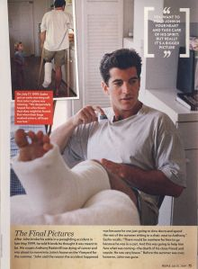 People magazine: One of the last pictures of John F Kennedy Jr before his tragic plane crash of the coast of Martha's Vineyard, Massachusetts. Late May 1999 Los Kennedy, John Kennedy Jr, Carolyn Bessette Kennedy, Caroline Kennedy, Jfk Jr, Jacqueline Kennedy Onassis, Illuminati, Jaqueline Kennedy, Wise Men Say