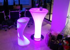 Sleek, stylish and very cool, the LED Bar Table is a tall table that can be positioned alone or with tall bar stool style seating. Perfect for updating your kitchen or patio with colour or for funky commercial premises, this contemporary tall table is made from robust Polyethylene that easily wipes clean. Normally: $699.00    Special: $599.00