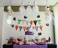 Festa Infantil Halloween - Mesa principal decorada