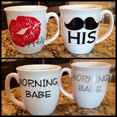 His and Her Coffee Set, (great gift, especially for Valentine's Day)