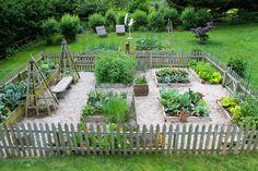Beautiful little potager garden.