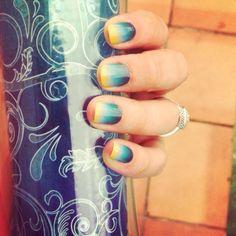 Ombré fan? Check out Jamberry's Deep Sea nail design.  jillr.jamberrynails.net