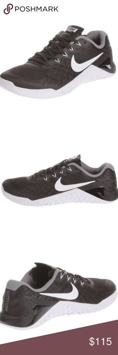 COMING SOON! Women's Nike metcon 3 tennis shoes Women's Nike metcon 3 training shoes in black metallic. Brand new! Shoes Sneakers