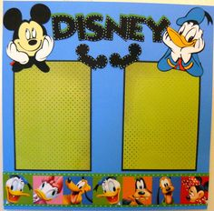 Disney' Scrapbooking Layouts | ... Disney characters, it is best not to cut them any smaller than about 4