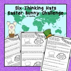 The Easter Bunny is amazing and travels the world in one night delivering Easter Eggs. Your job is to use Debono's Six Thinking Hats and be creative in explaining how the Easter Bunny manages this task!For grades 2 - pack blackline master Six Thinking Hats, Thinking Skills, Critical Thinking, Easter Bunny, Easter Eggs, Teacher Freebies, Higher Order Thinking, Math Activities, Problem Solving
