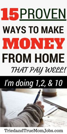 Do you want to find a job that offers the flexibility to work from home, set your own hours, and spend time with your family? Take a look at the top 15 ways to make money from home and learn how to get started and where to apply. #workfromhome #legitimateworkfromhomejobs #makemoneyonline