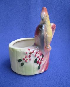 American Bisque Cockatoo Planter