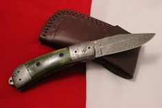 D.GREEC HANDMADE DAMASCUS FOLDING LINNER KNIFES SPECIAL NEW YEAR OFFER.DUC271 #DUCKGREEC