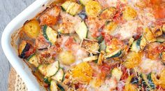 Ovenschotel met kip en Italiaanse groenten