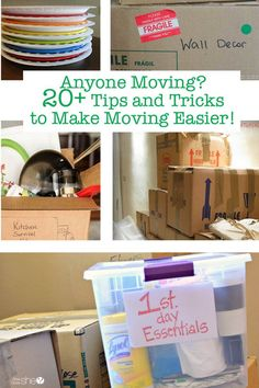 Make moving easier by using these tips and tricks designed to save you time and effort. A move can be a big endeavor but these tips will lessen the work Unpacking Tips, Free Moving Boxes, Moving Binder, Diy Projects For Adults, Moving Tips, Moving Hacks, Packing To Move, Get Thin, Inexpensive Home Decor
