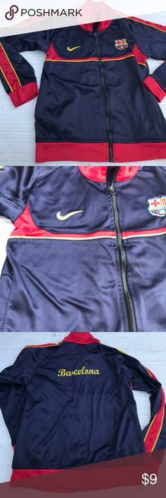 NIKE BARCELONA JACKET BOYS 16 XL not authentic 🚨 Looks good but don't think it's authentic Jackets & Coats