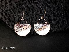 Nieve III  Pendientes de arcilla polimérica y plata de ley. Polymer clay and Sterling Silver earrings