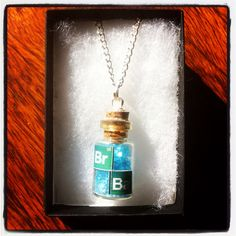 "Breaking Bad Inspired ""Crystal Meth"" Vial Necklace/Keyring"