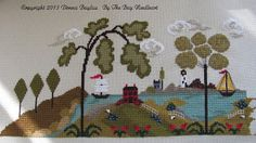 By the Bay Needleart - Nantucket Village series parts 1 and 2   http://bythebayneedleart.blogspot.com/2013/08/new-designs-are-here