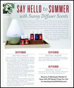 Canada Summer Comes Alive with Sunny Blends in our July Promotions! Become a wholesale member and save 24% off retail prices for life at www.bit.ly/CanadaYL Beautiful summer oils energize the senses and awaken the soul. Our July promotions help you capture those intoxicating aromas with a lineup of essential oils...