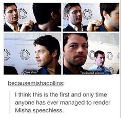 I would be speechless too if Jensen Ackles slapped my ass
