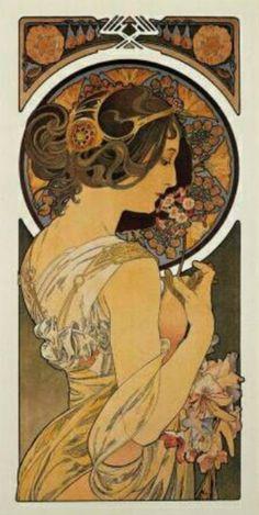 La Primevere  1899    Alphonse Mucha