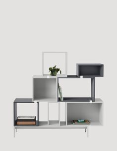 The STACKED system provides a storage solution with endless possibilities. With the use of small clips, the modules can be rearranged to create all manner of shelving set ups, room dividers or side tables. The design can be easily changed by playing around with the space between the modules or mounting them directly onto the wall. #muuto #muutodesign