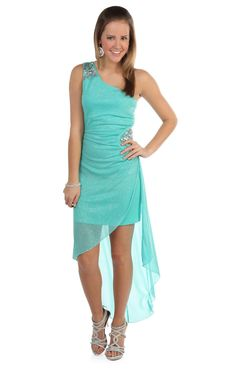 Prom Dresses 2013 - one shoulder all over #glitter high low party dress #prom  $64.50