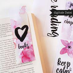 Lesezeichen basteln DIY / Bastelanleitung - Lesezeichen / Bookmarks PRINTABLE PDF / A4 digital - ein Designerstück von sppiy bei DaWanda